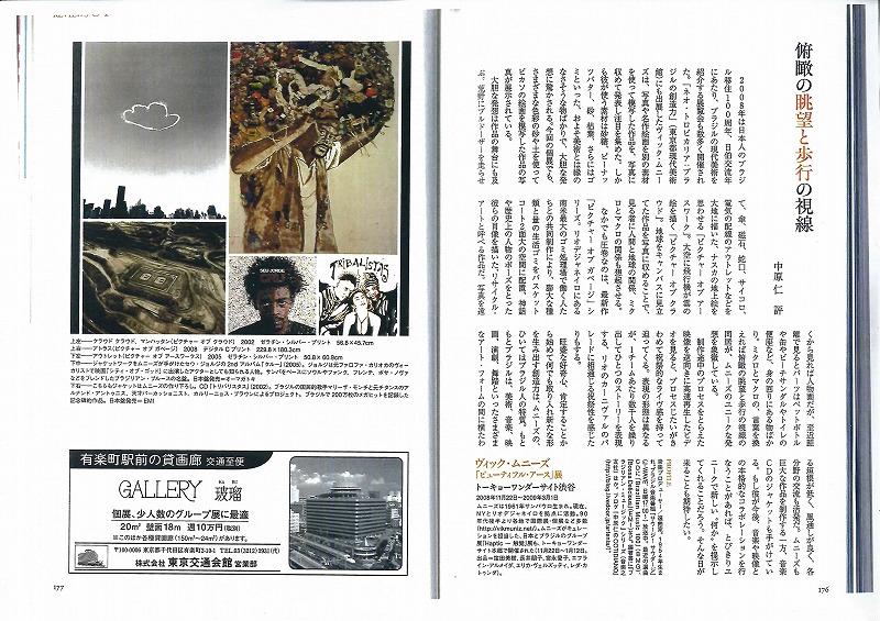 ヴィック・ムニーズ:美術手帖2009年2月号