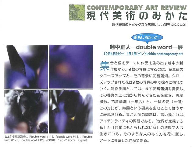 レビュー : 越中正人 -double world-