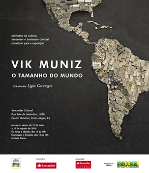 ヴィック・ムニーズ個展(Santander Cultural、ブラジル)